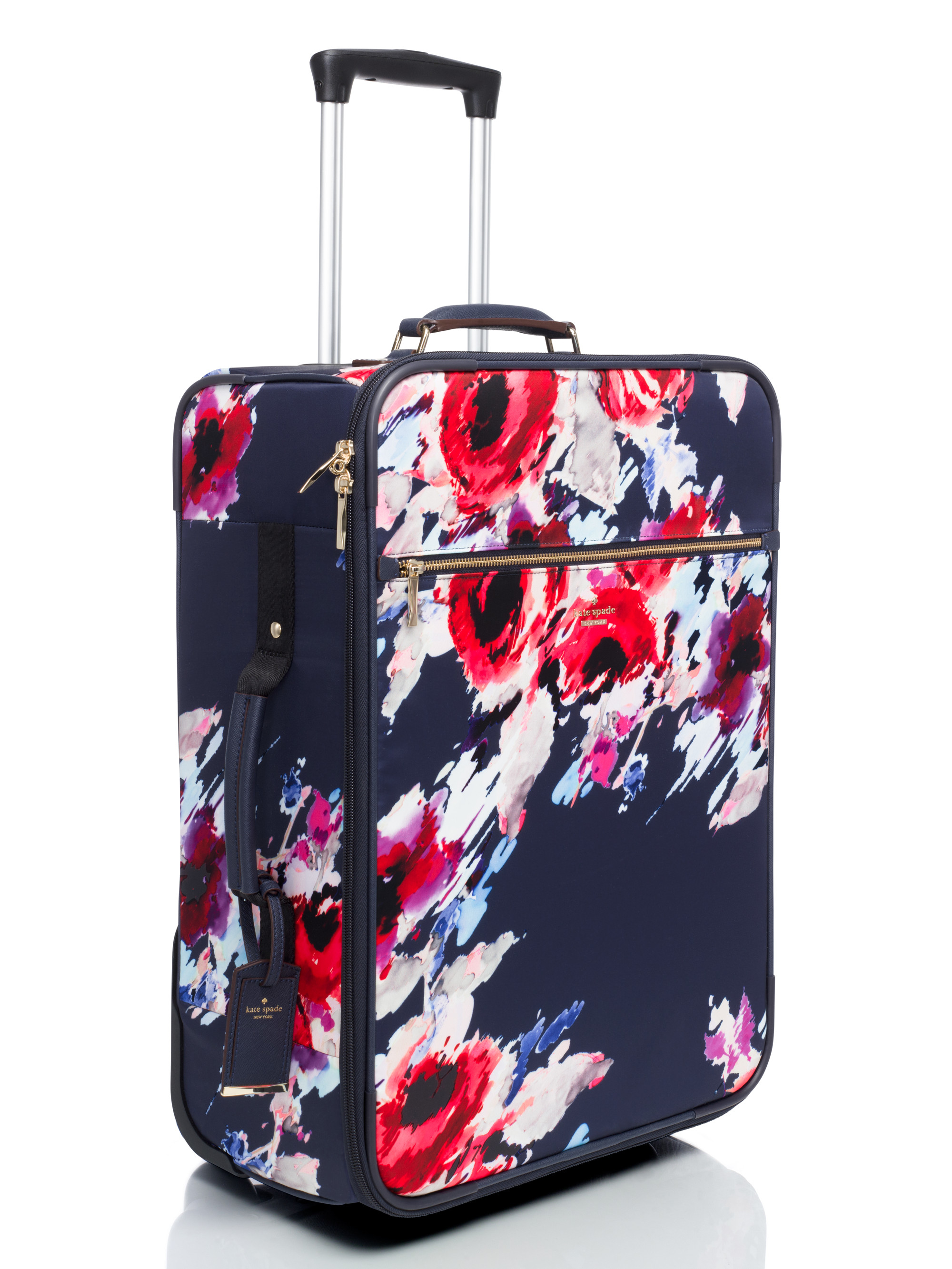 kate spade new york classic nylon hazy floral international carry