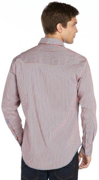 Orange Striped Long Sleeve Shirt Cotton Long Sleeve Shirt