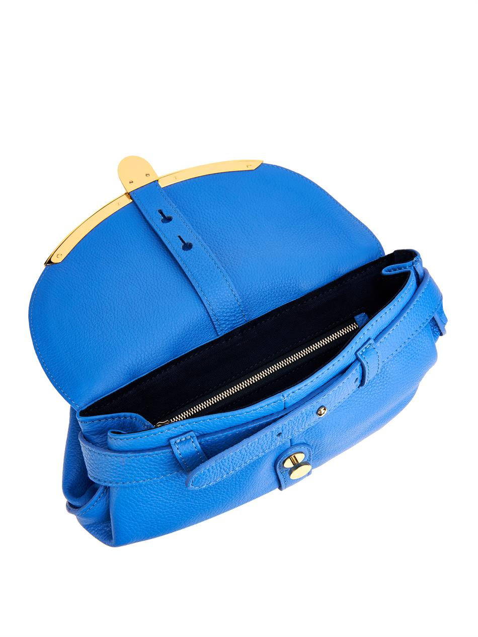 See by chloé Lizzie Grained-Leather Cross-Body Bag in Blue ...