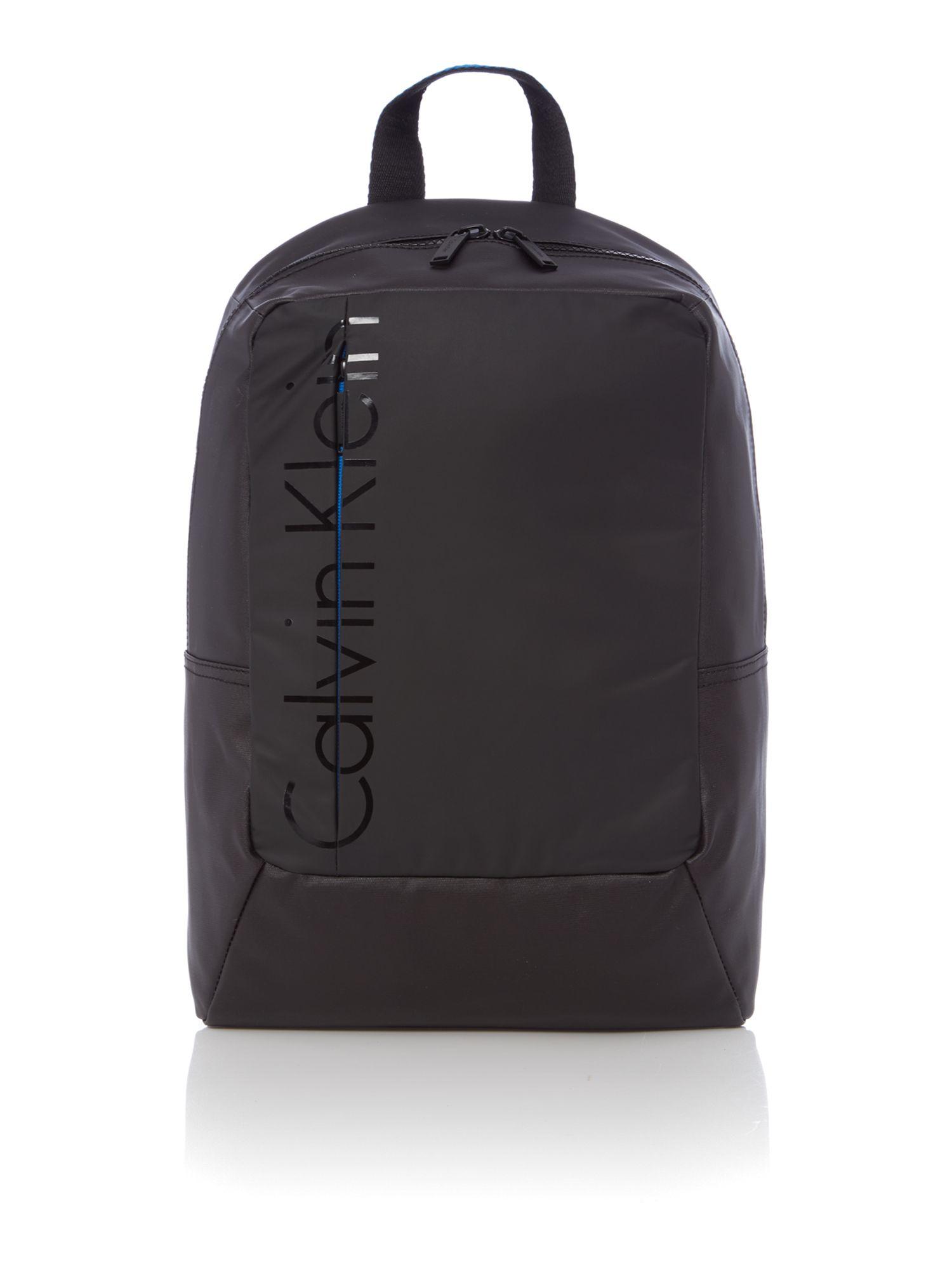 calvin klein logan backpack in black for men lyst. Black Bedroom Furniture Sets. Home Design Ideas