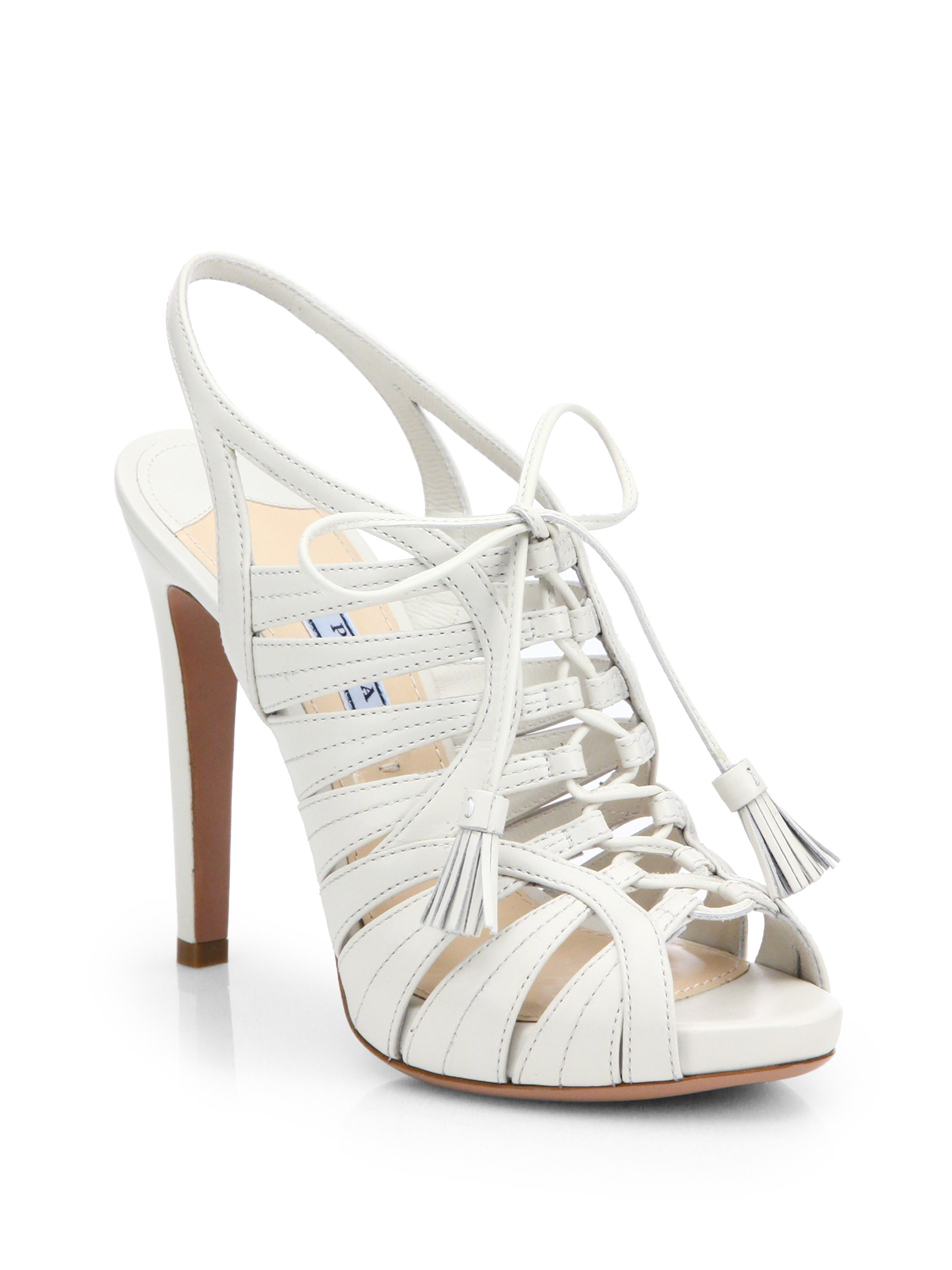 lace up tassel sandals