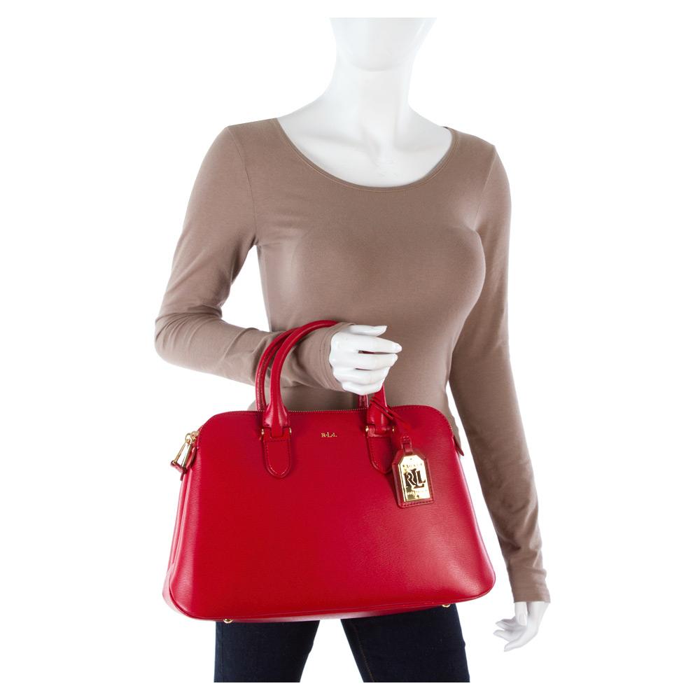 55db80ecc5fa Lyst - Lauren By Ralph Lauren Newbury Double Zip Dome in Red