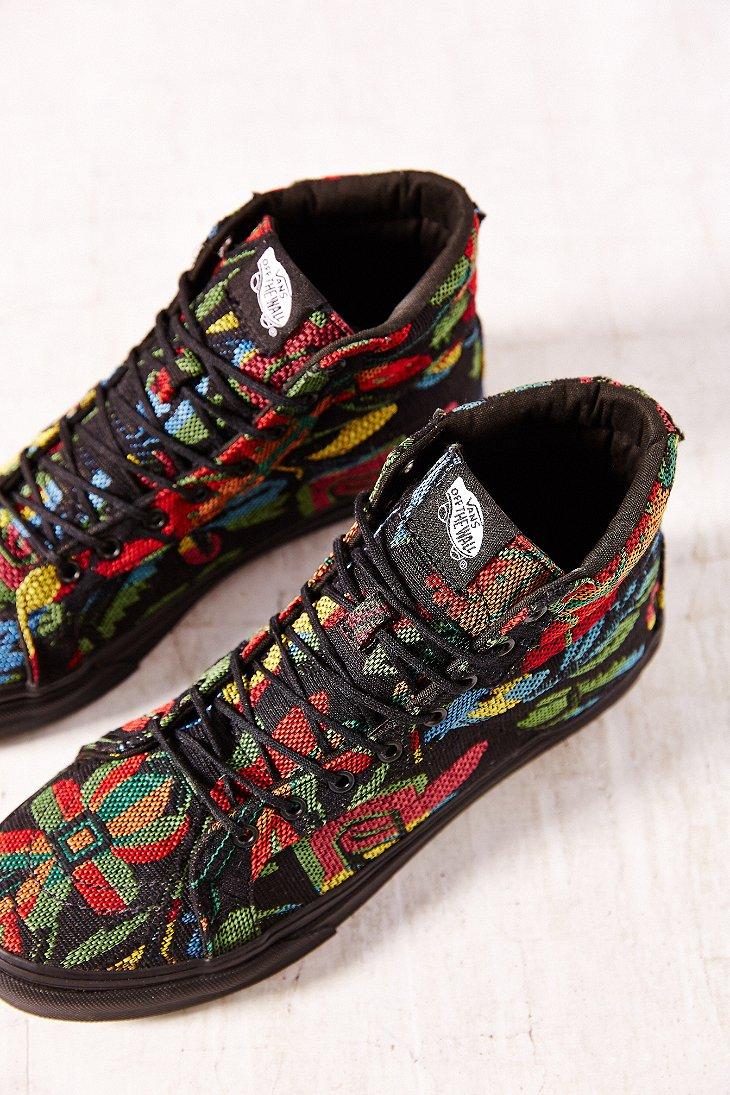 d469d48afd Lyst - Vans Floral Tapestry Sk8hi Slim Sneaker
