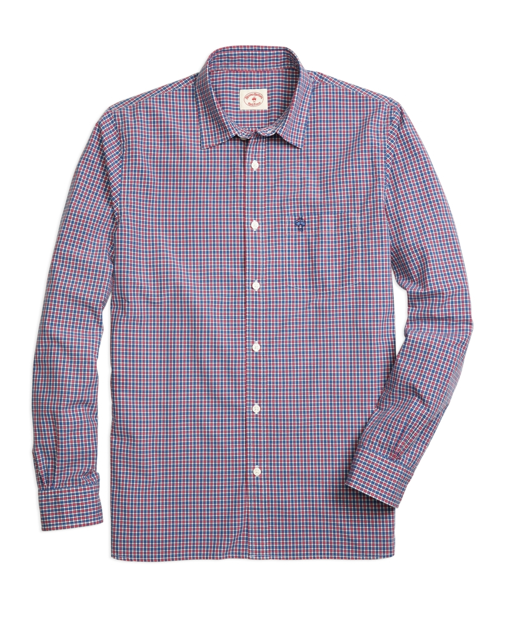 Lyst brooks brothers small gingham sport shirt in blue for Brooks brothers sports shirts