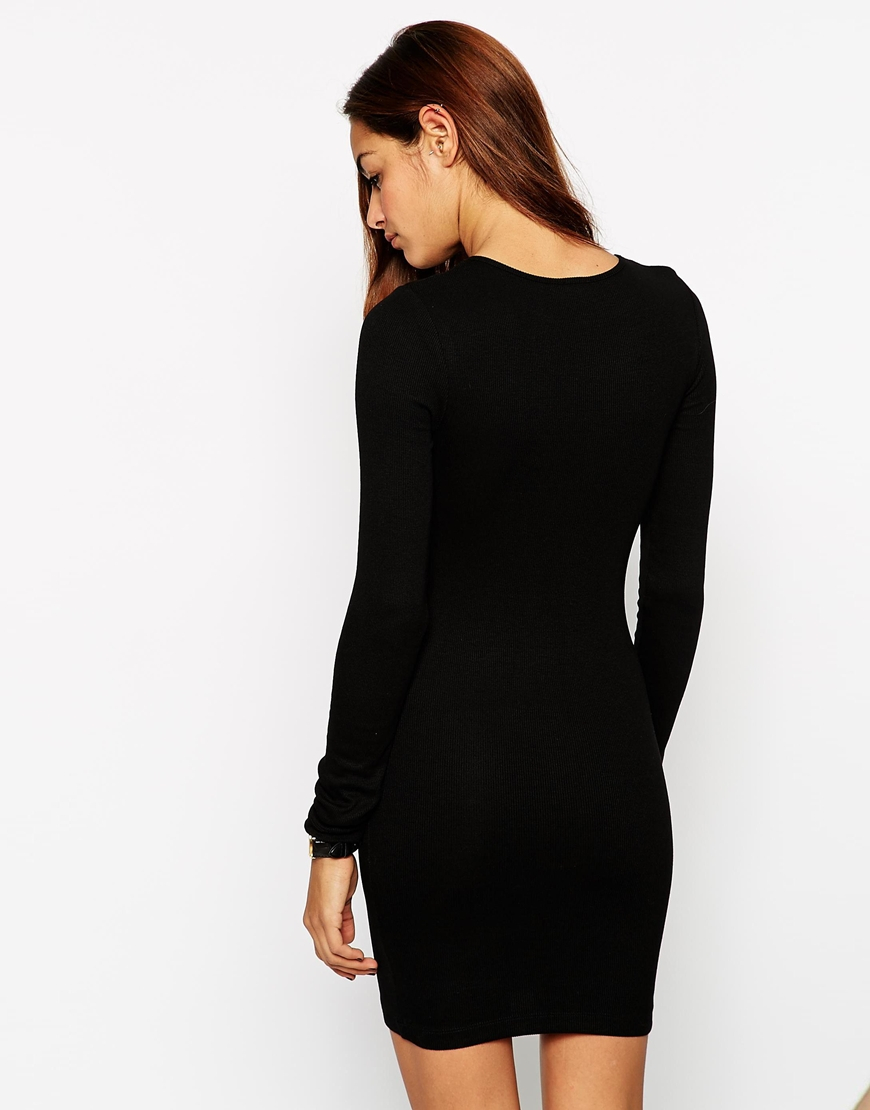 Black long sleeve bodycon dress asos usa