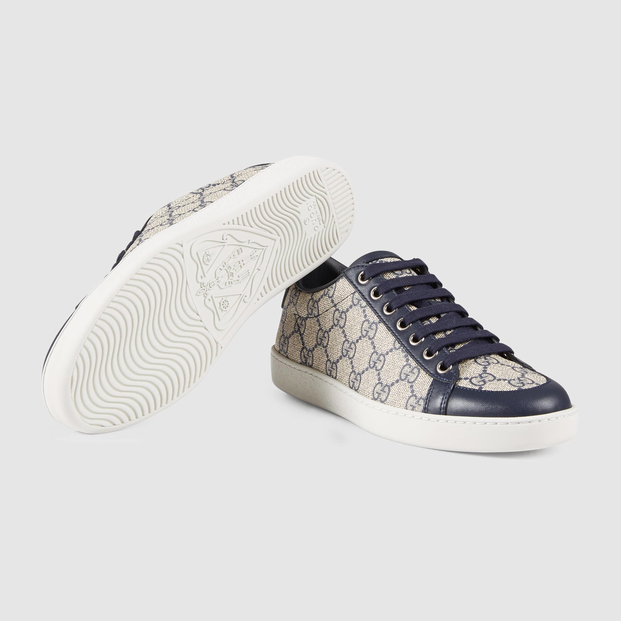 077f77f1069 Lyst - Gucci Brooklyn GG Supreme Sneaker in Blue
