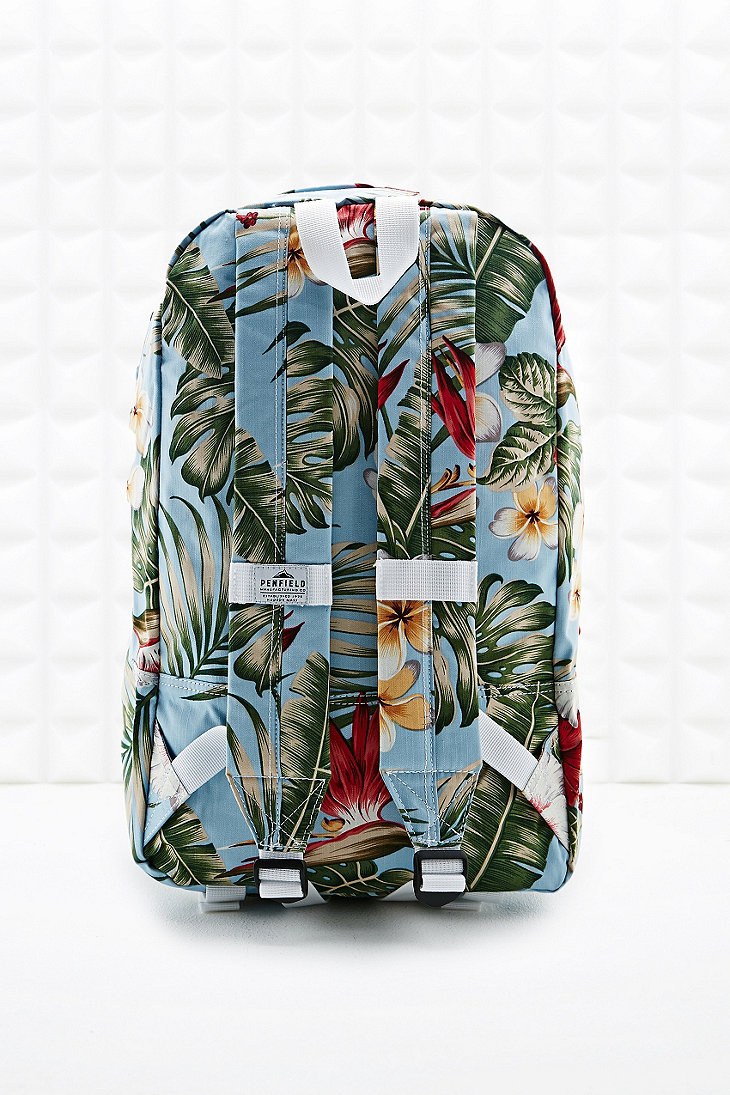 Penfield Tala Palm Print Backpack in Light Blue for Men