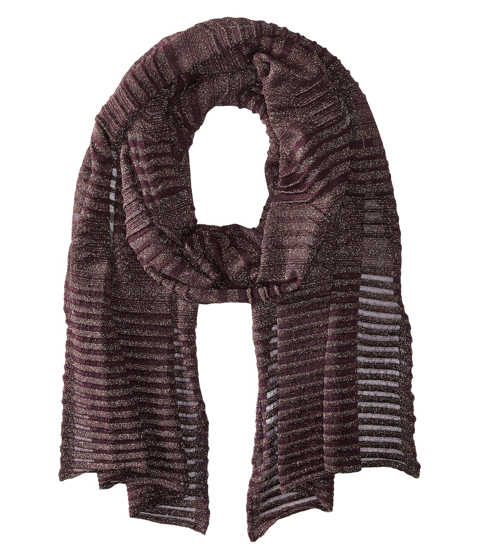 m missoni solid lurex scarf in purple lyst