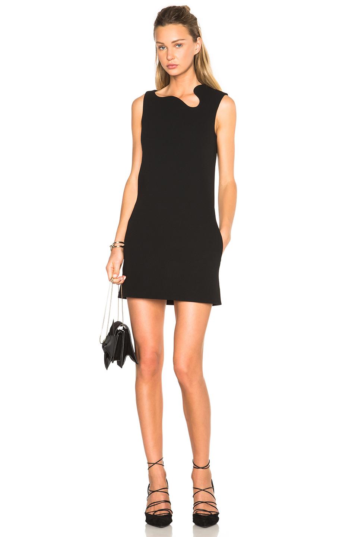 Lyst Victoria Beckham Matte Crepe Curved Neck Mini Dress
