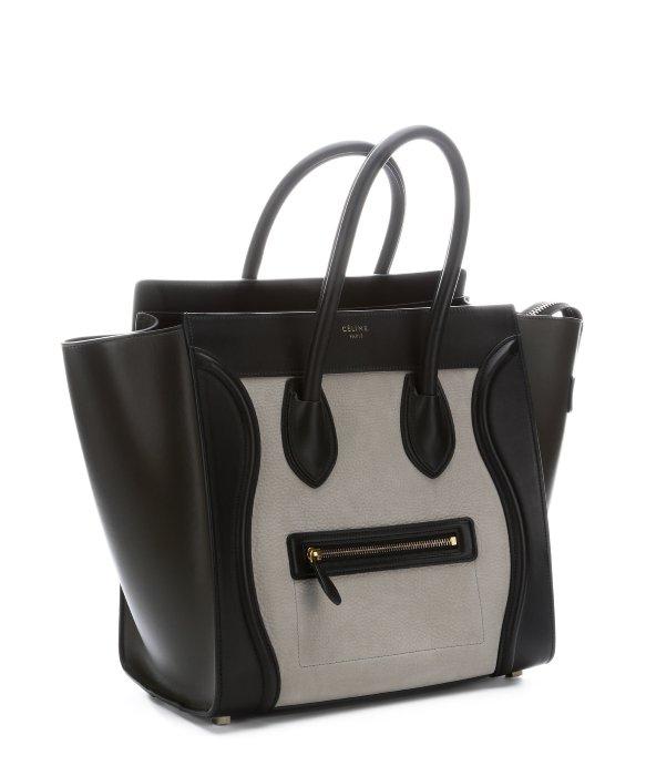 authentic celine luggage tote - celine grey trapeze bag