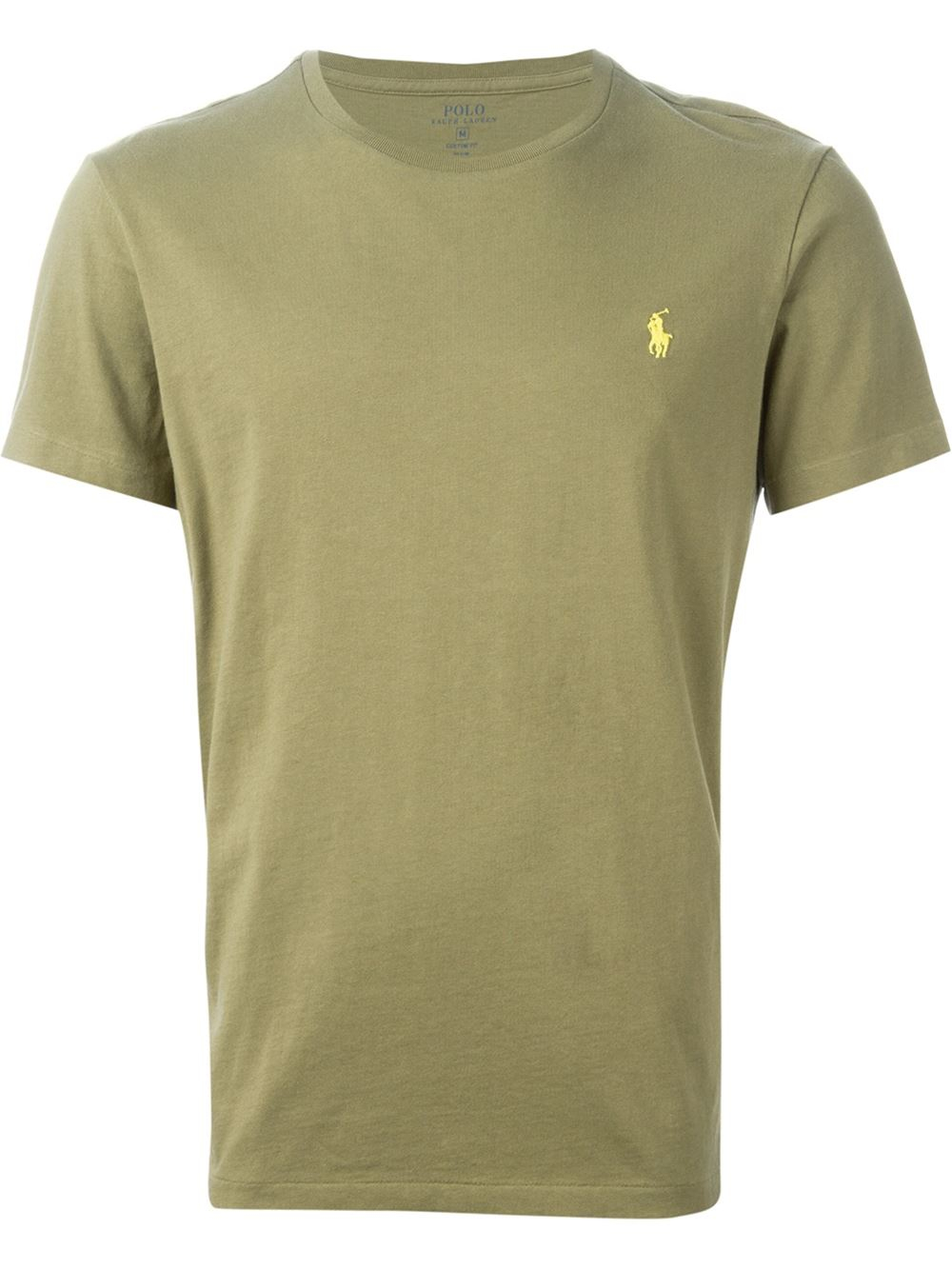 Polo ralph lauren embroidered logo t shirt in green for men lyst for Ralph lauren logo shirt