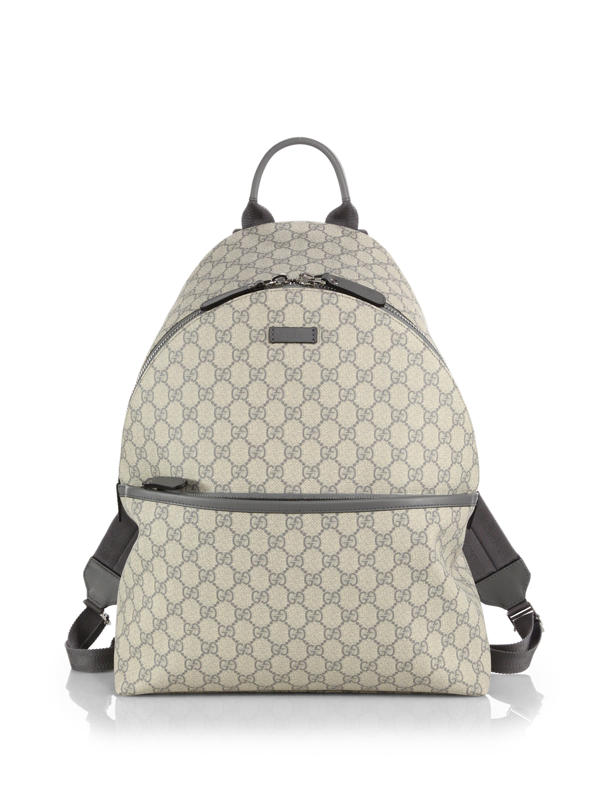 Lyst - Gucci Gg Supreme Canvas Backpack in Gray for Men 4d7911fefd