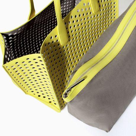 Zara Perforated Shopper Bag Perforated Shopper Bag in