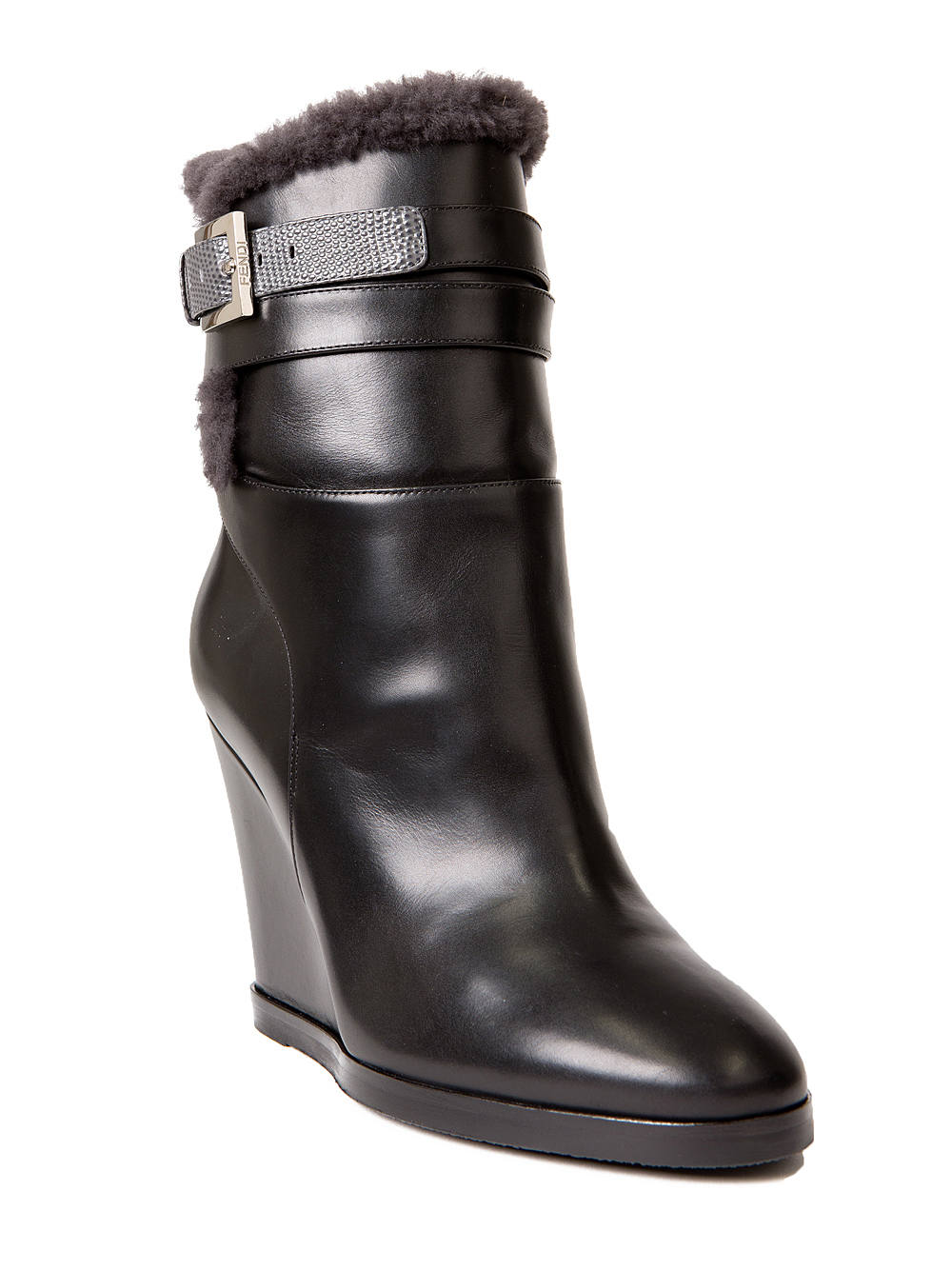 cheap sale release dates Fendi Shearling Wedge Boots free shipping pictures discount from china ixPRNCoA
