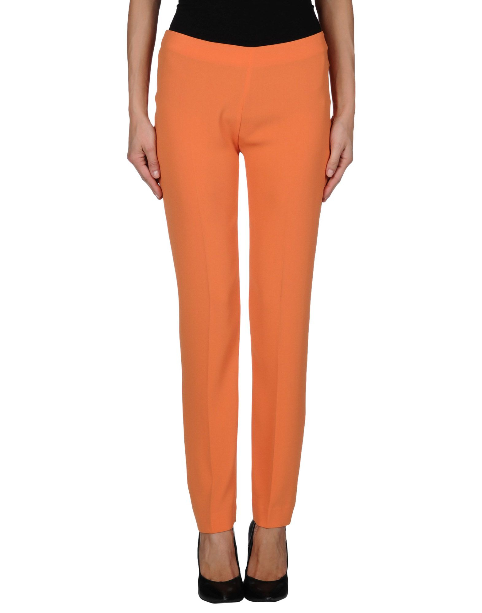Innovative  Pakistan Orange Cotton Cigarette Pants For Women  RCPAPantCgtO