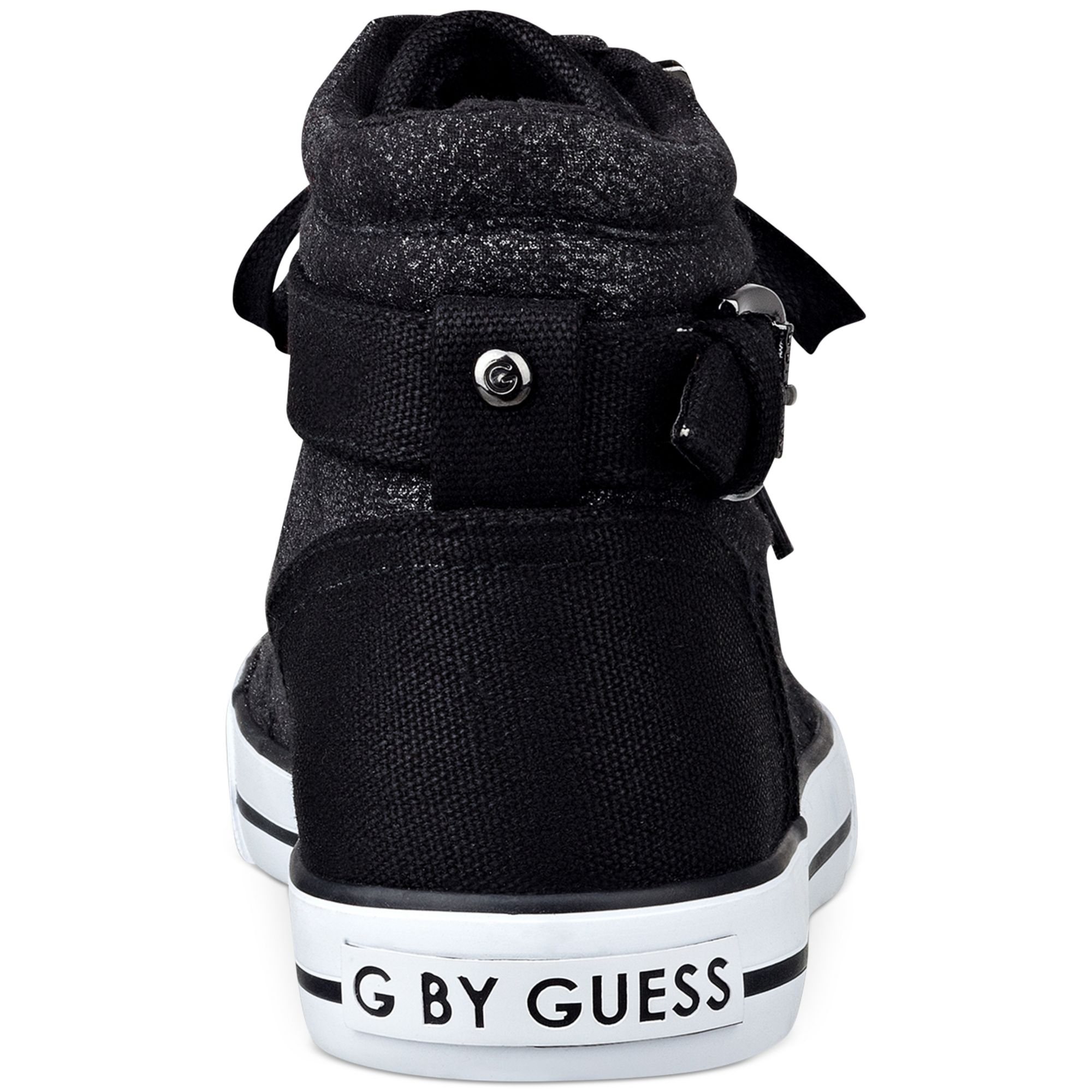 g by guess womens olama high top sneakers in black lyst
