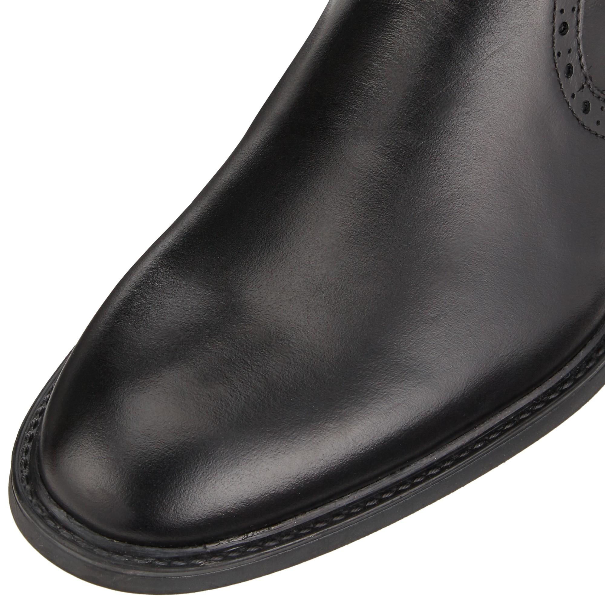 John Lewis Baker Long Leather Knee Boots in Black