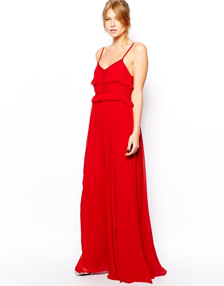 Red maxi dress h&m