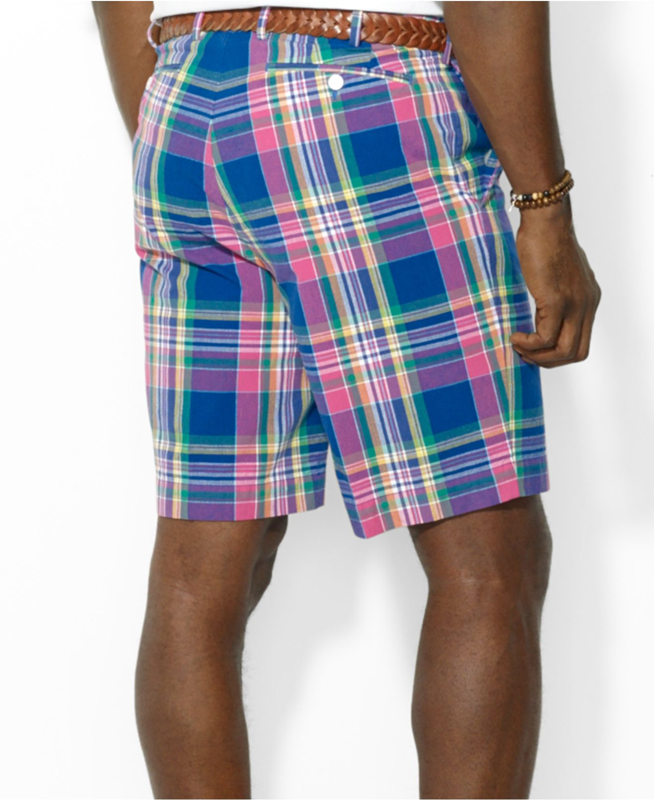Polo ralph lauren Big And Tall Plaid Shorts in Blue for Men | Lyst