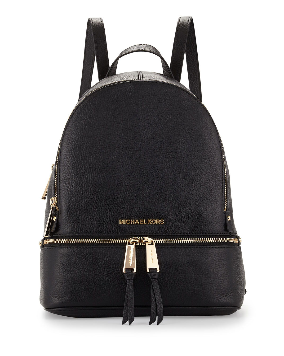 michael michael kors rhea small zip backpack in black lyst. Black Bedroom Furniture Sets. Home Design Ideas