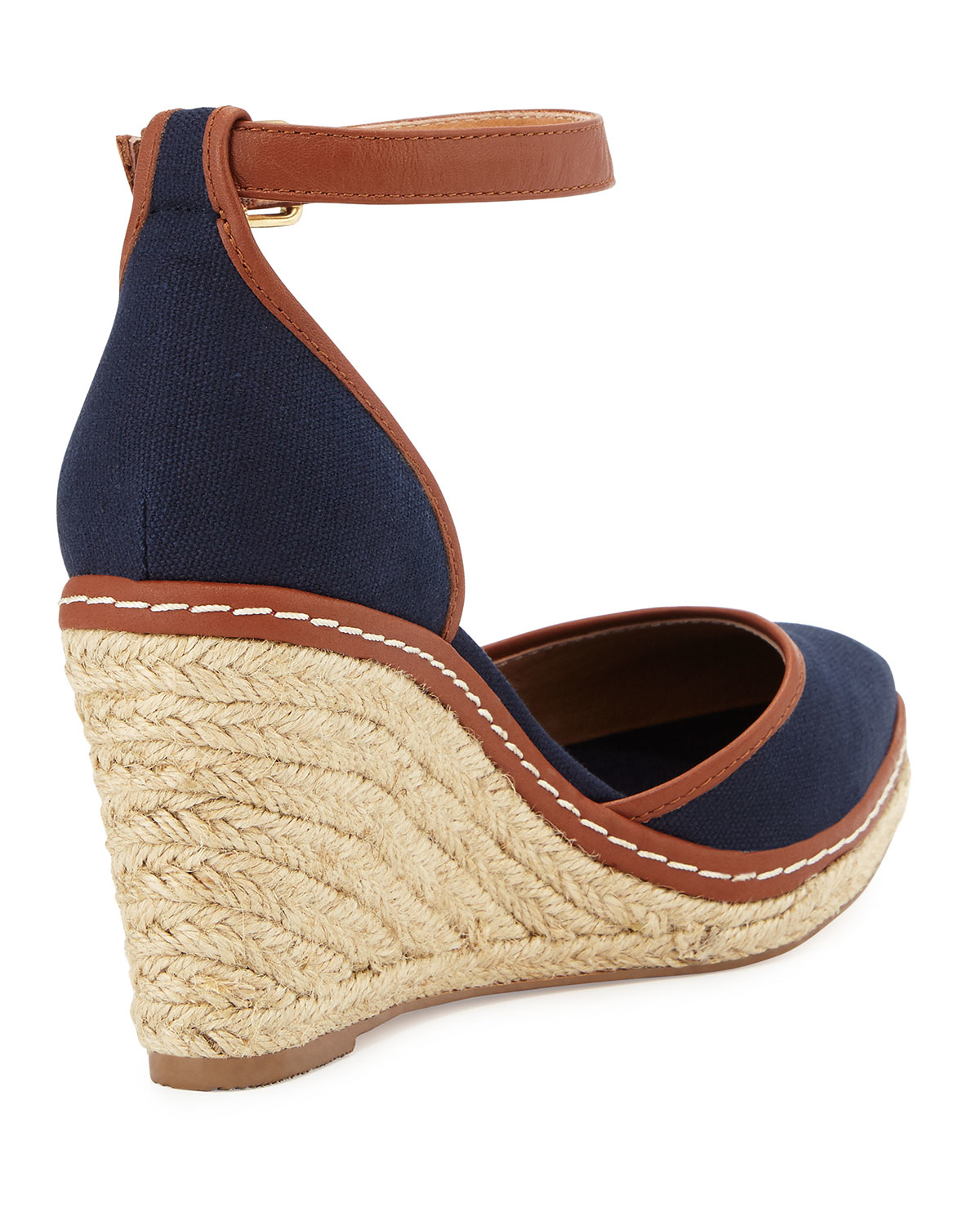 6e93bf964b0 Lyst - Charles David Keiko Closed-toe Canvas Espadrille Wedge in Brown