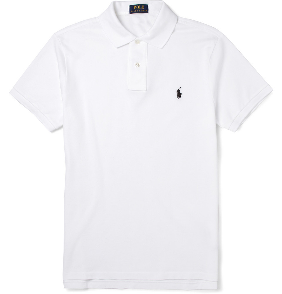 Lyst Polo Ralph Lauren Slim Fit Stretch Cotton Piqu