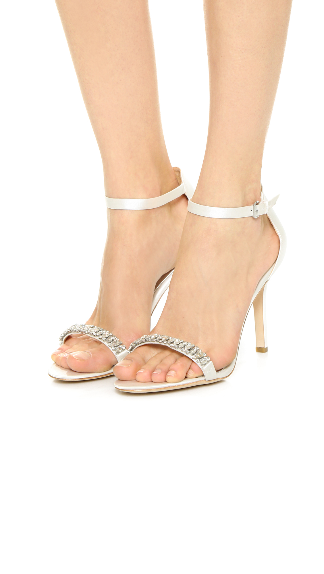 nordstrom wedding shoes lyst badgley mischka elope jeweled sandals white in white 6198