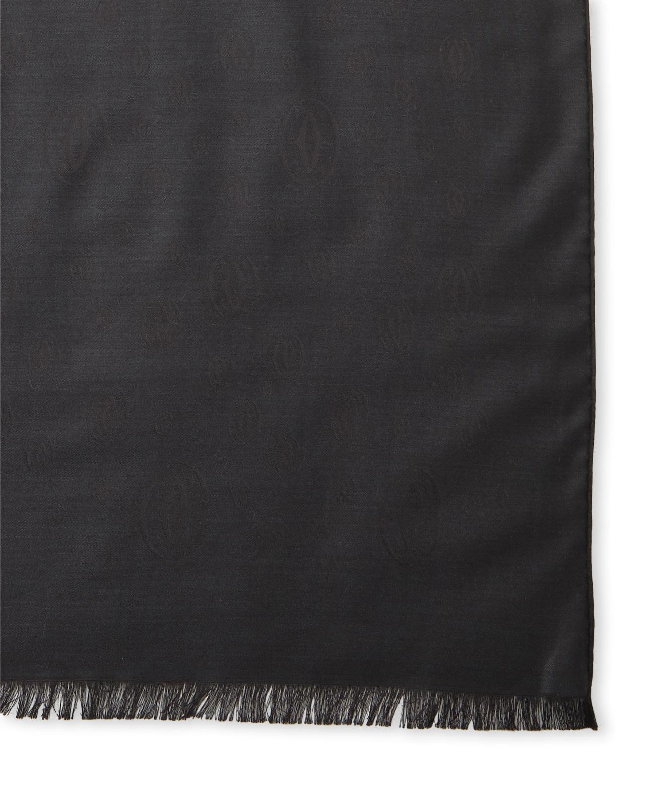 cartier logo scarf in black lyst
