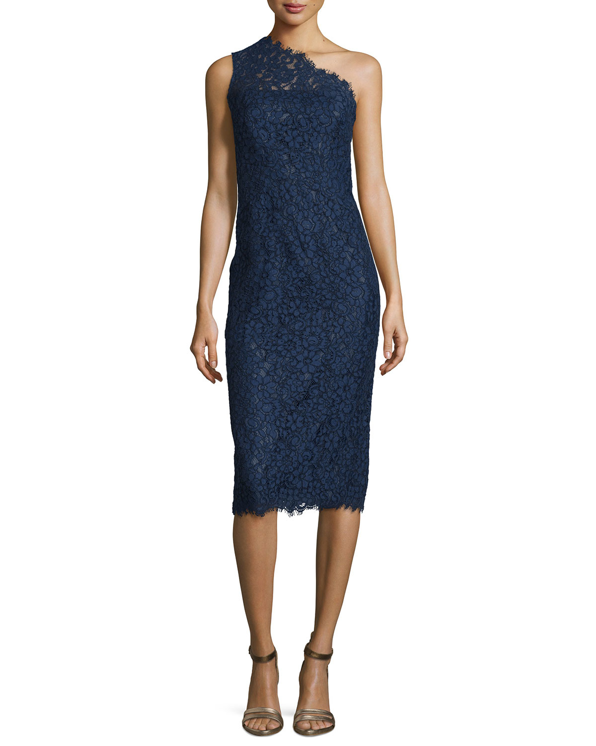 Blue midi cocktail dress nyc yamba queenstown