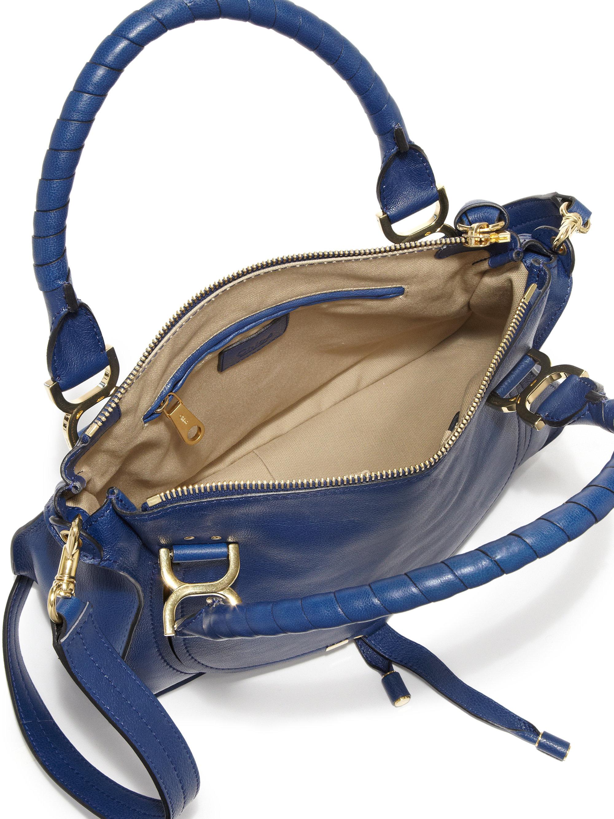 chloe medium leather satchel