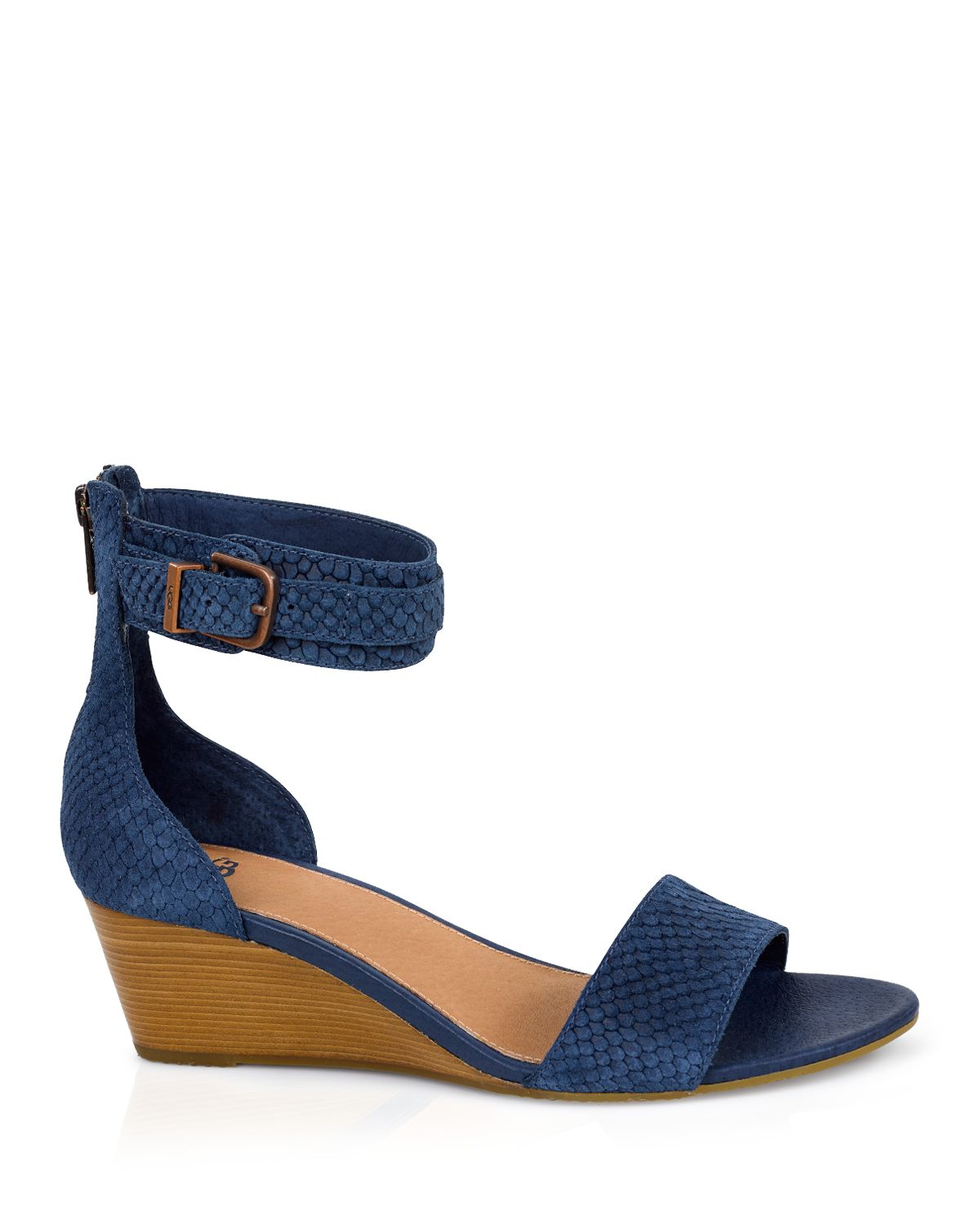 a62130eb8f9 UGG Blue ® Open Toe Wedge Sandals - Char
