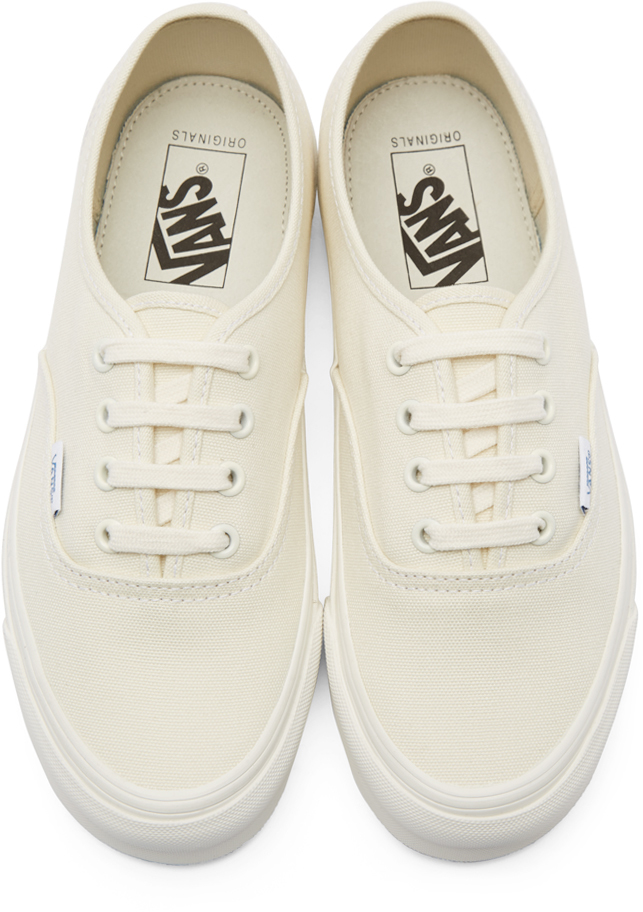a293f0449f Lyst - Vans Ivory Canvas Og Authentic Lx Sneakers in White