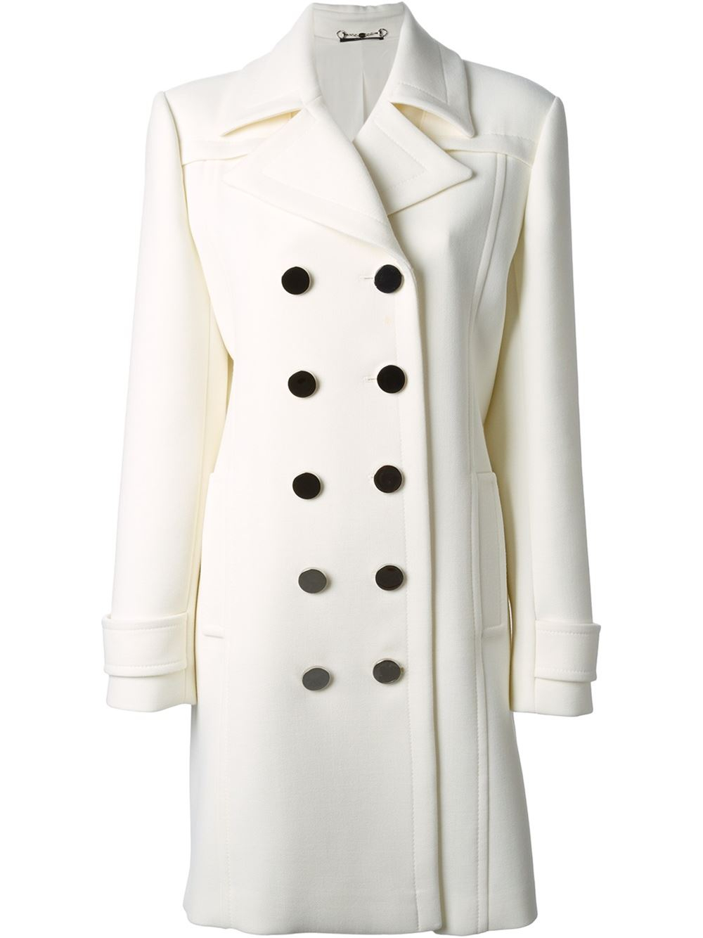 845592f84 Gucci Double Breasted Coat in White - Lyst
