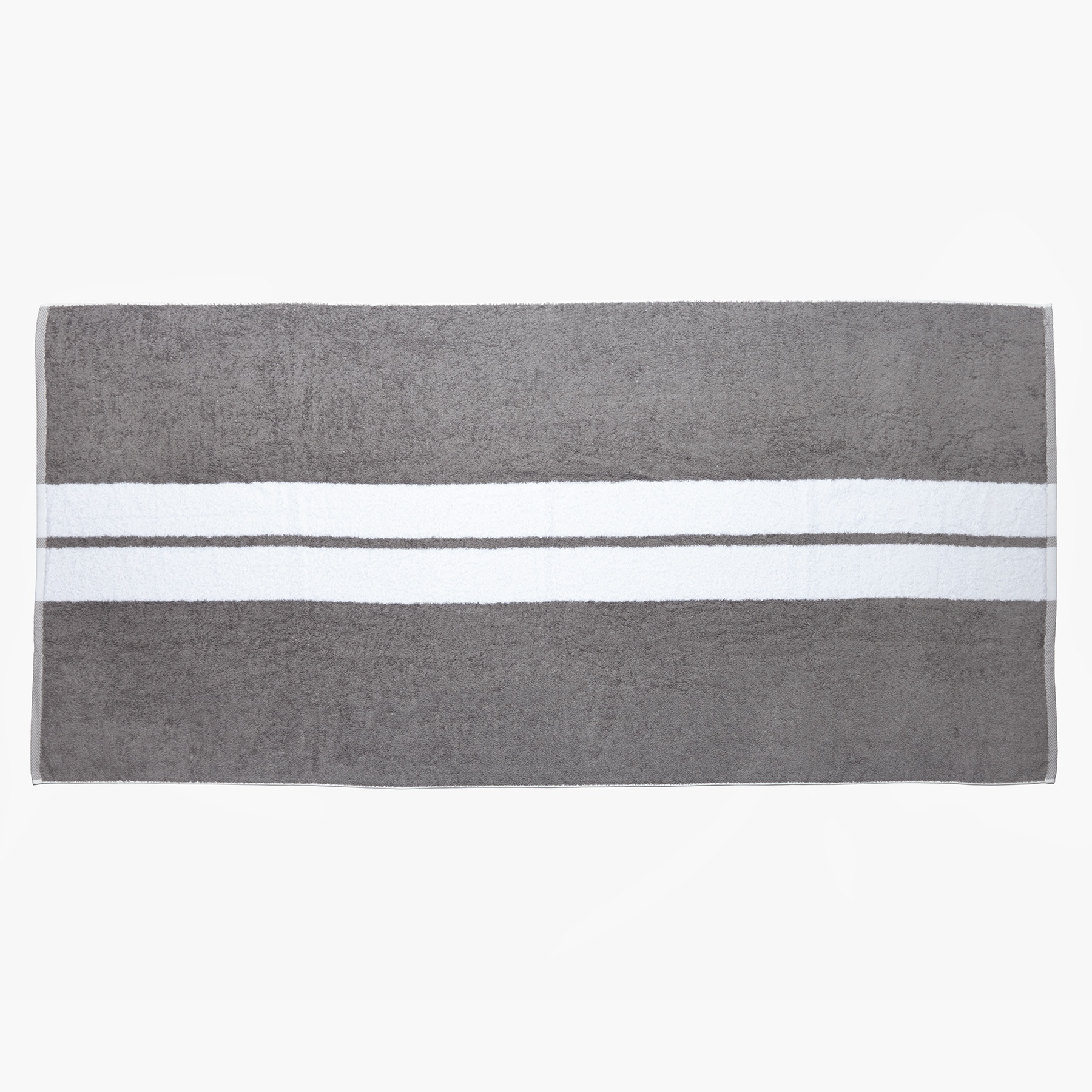 James Perse White Double Stripe Beach Towel For Men