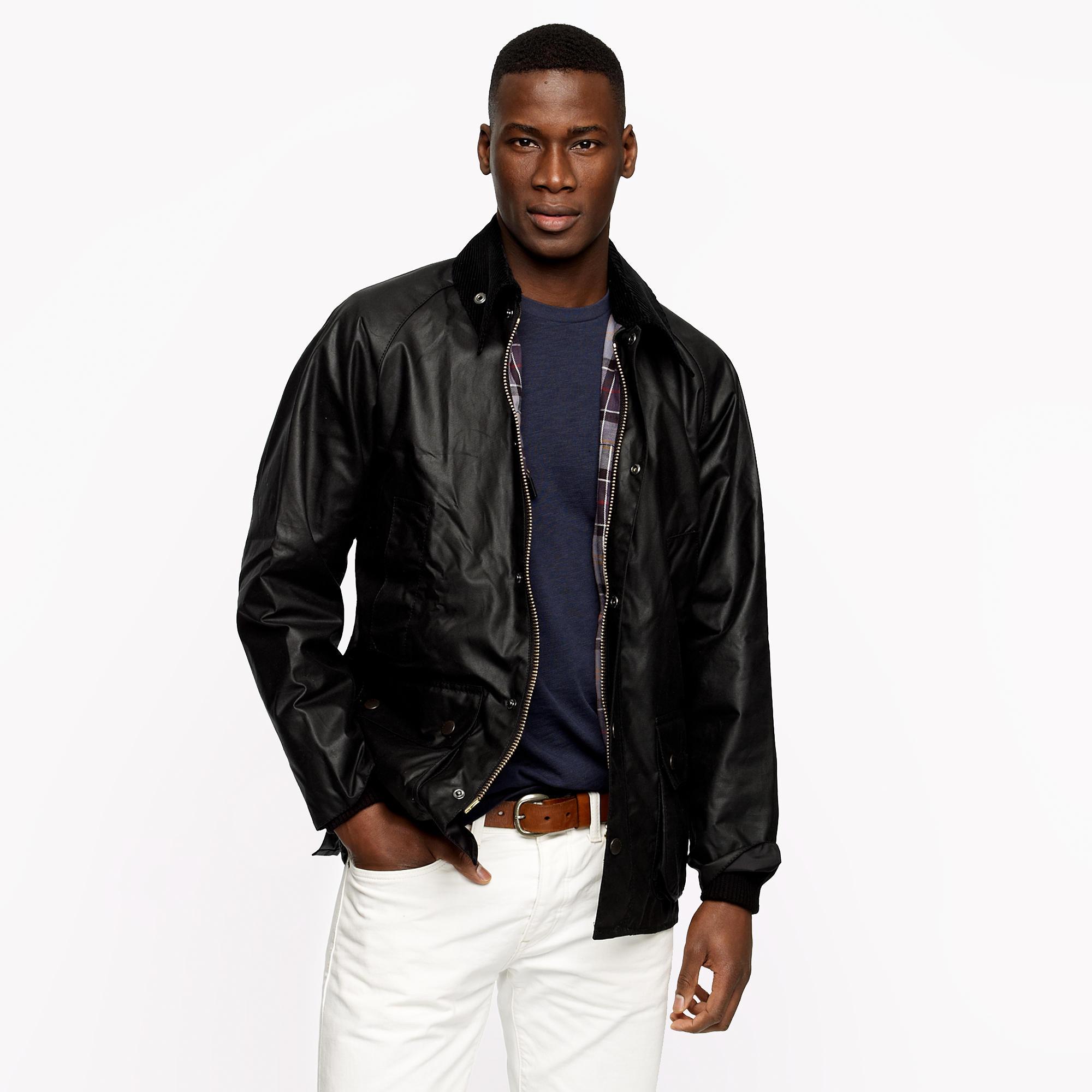 J Crew Barbour Equestrian Bedale Jacket In Black For Men