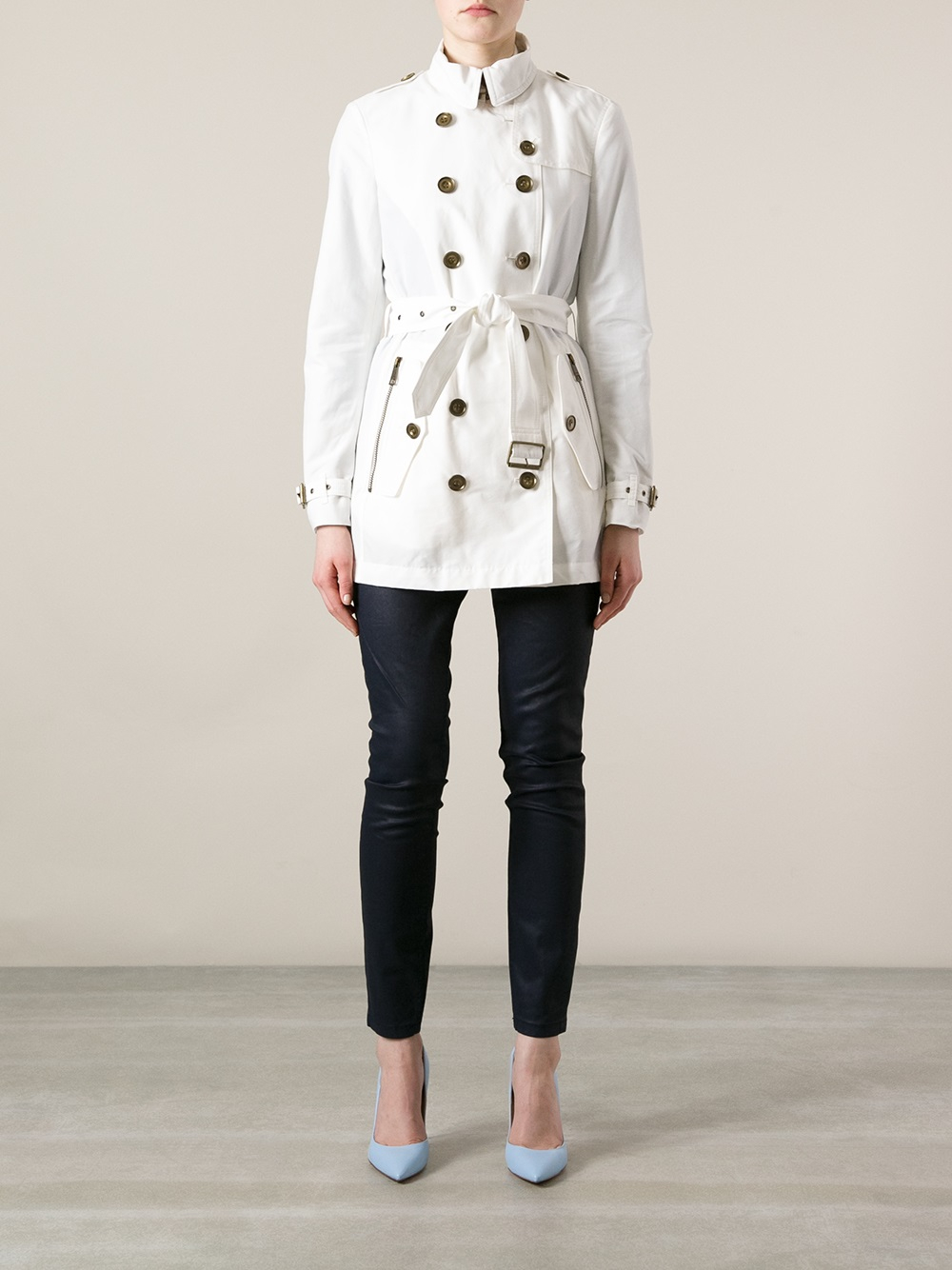 Lyst Burberry Brit Brookesby Trench Coat In White