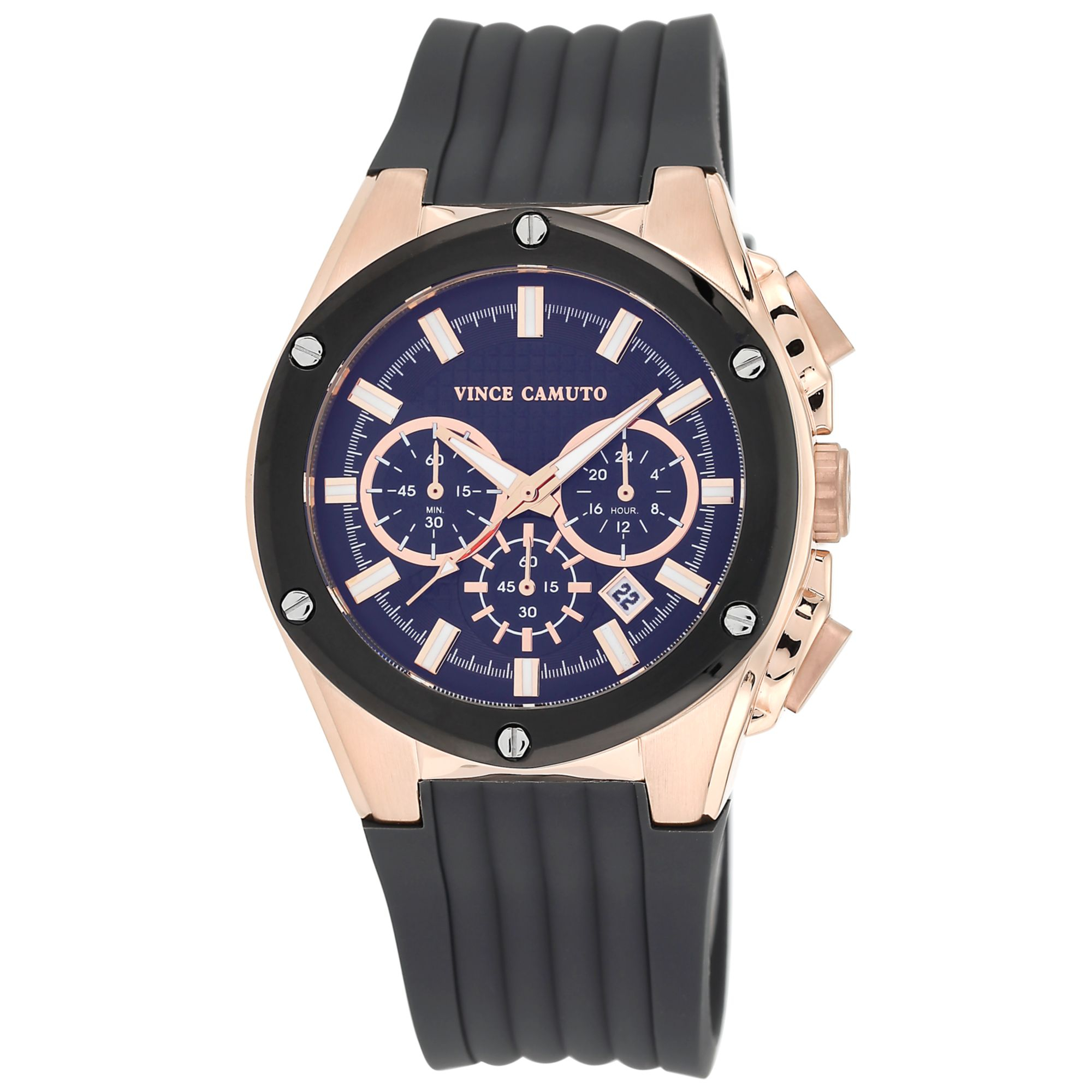 vince camuto s chronograph gray silicone