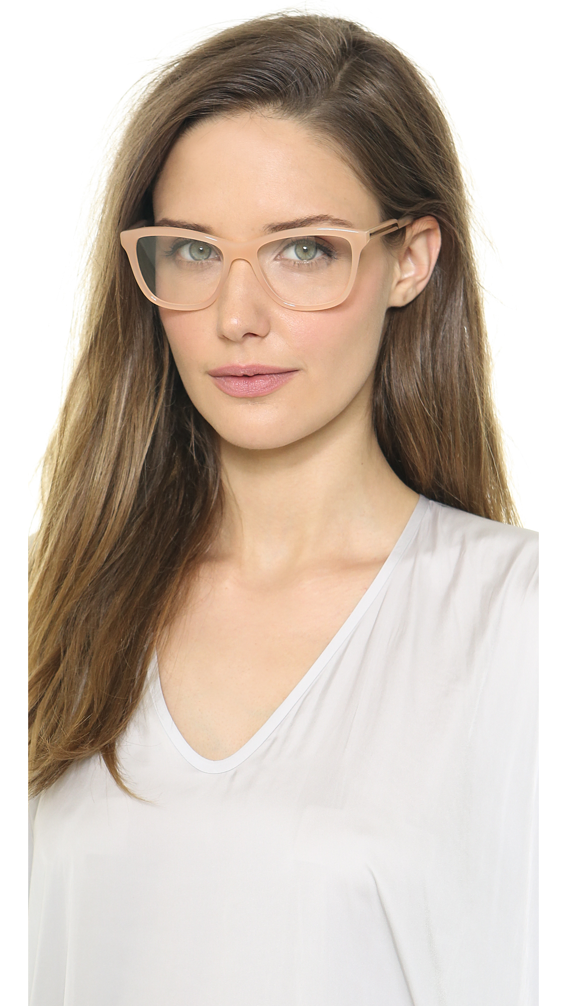 Stella mccartney Square Glasses - Nude in Natural Lyst