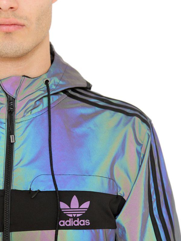 Adidas Originals Reversible Windbreaker Jacket Legend Ink Bluebird