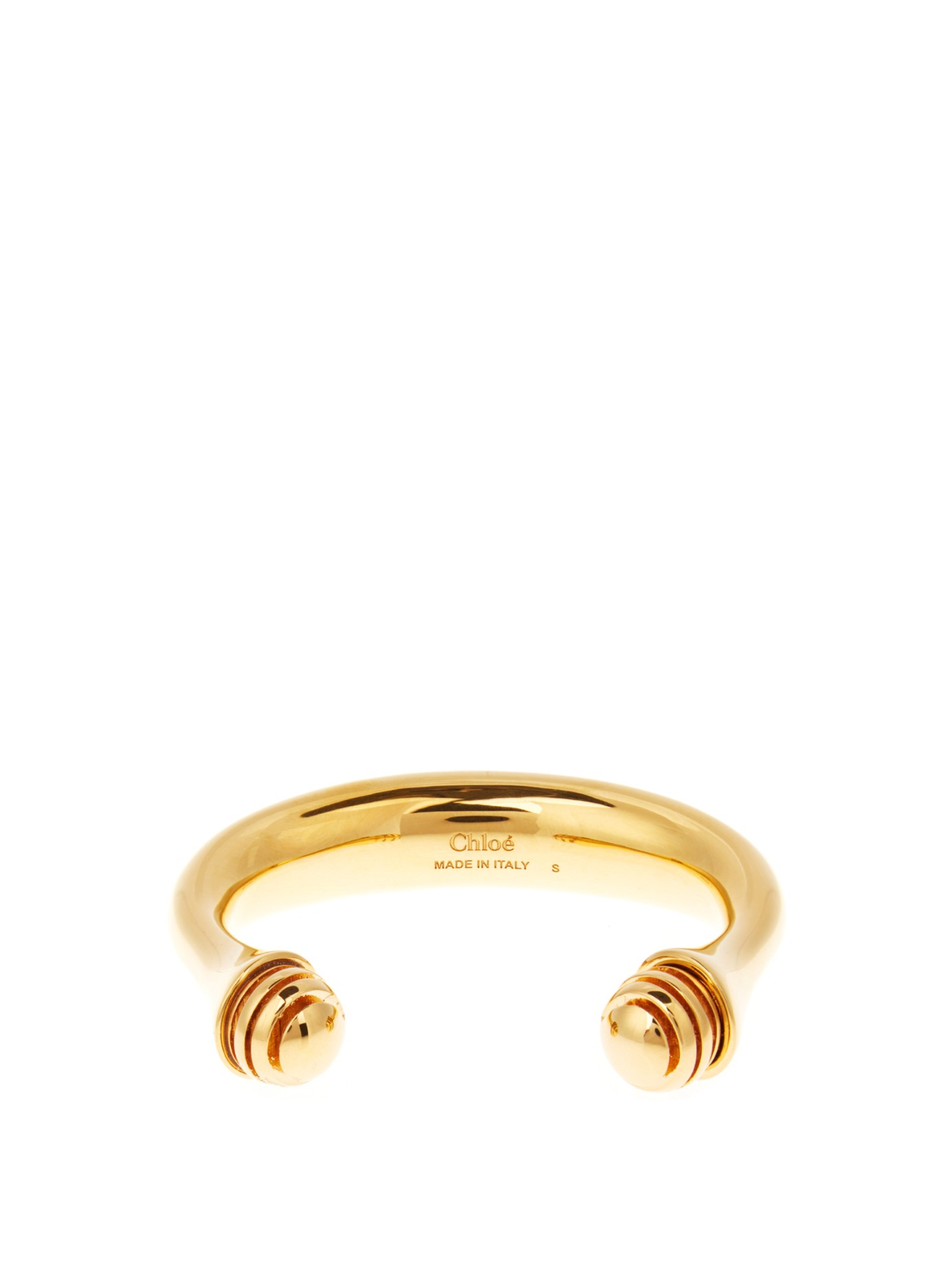 Chloé Darcy gold-tone brass embellished cuff