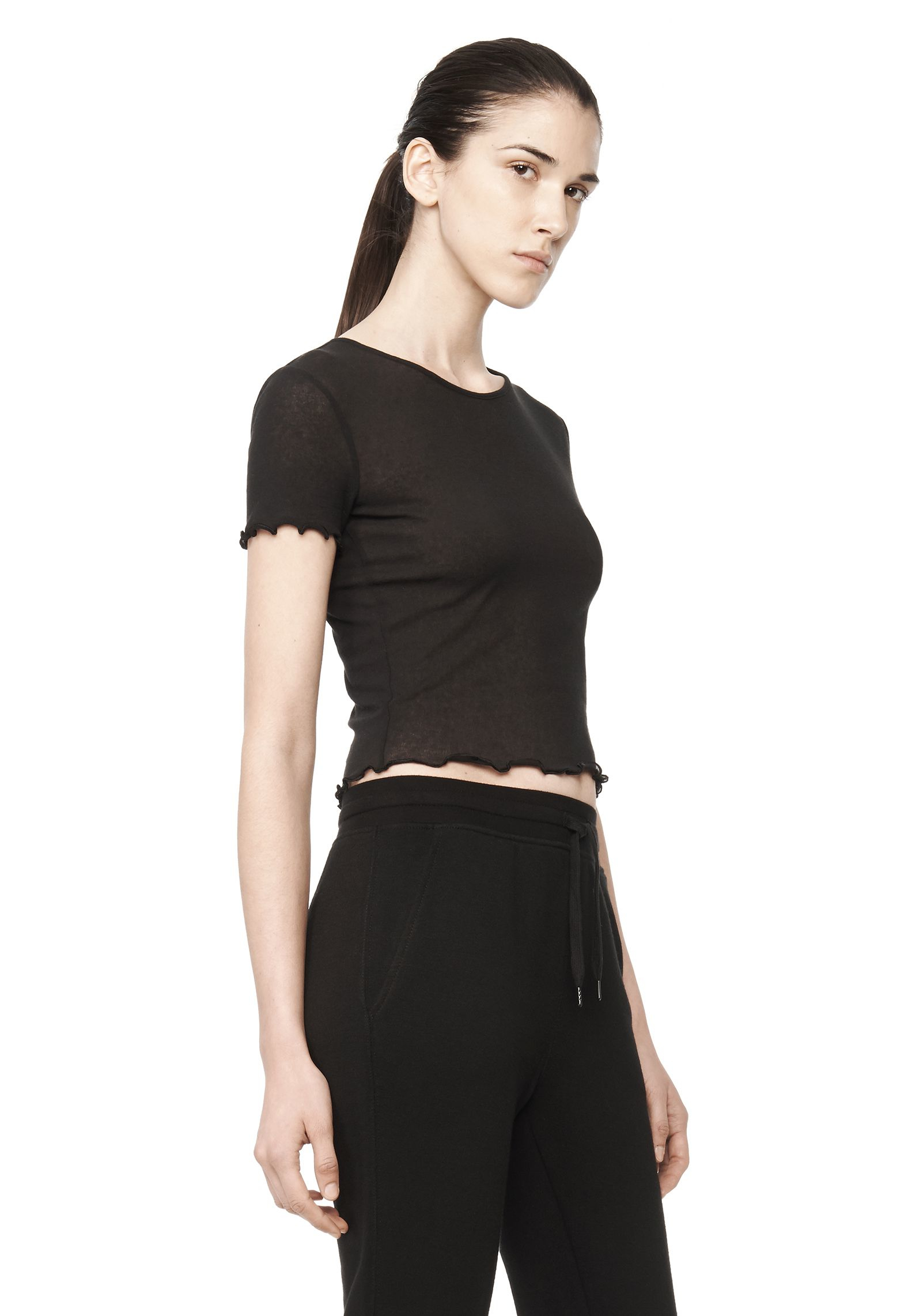 T by alexander wang t shirt in black lyst for Alexander wang t shirts