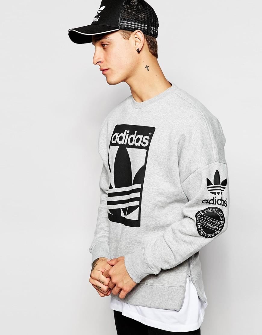 adidas Originals Graphics Sweatshirt Ab8027 in Grey (Gray ...