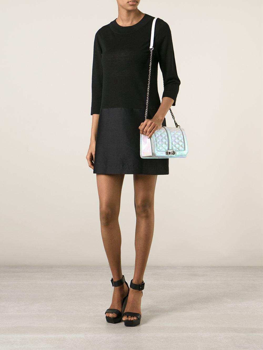 Lyst Rebecca Minkoff Love Iridescent Crossbody Bag In