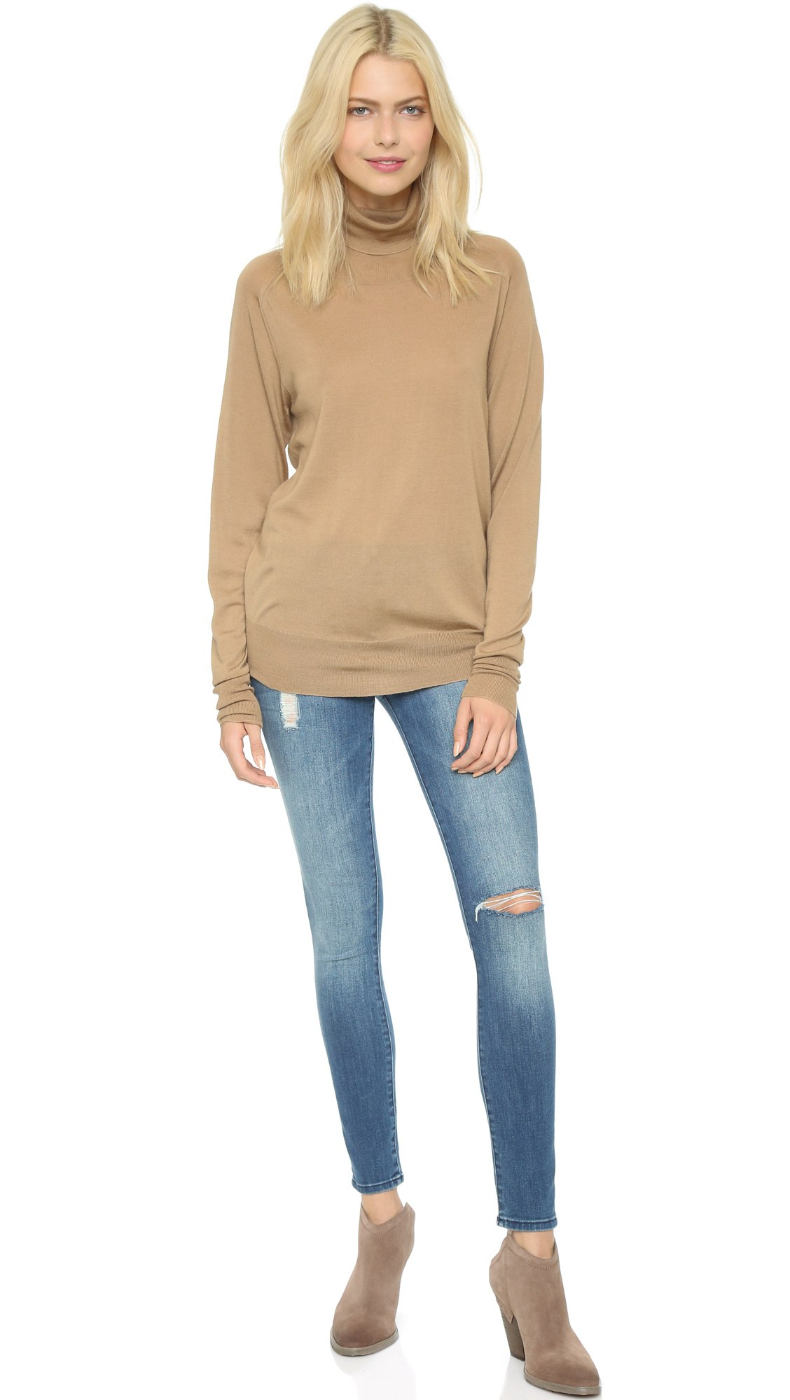 6397 Turtleneck Sweater in Brown | Lyst