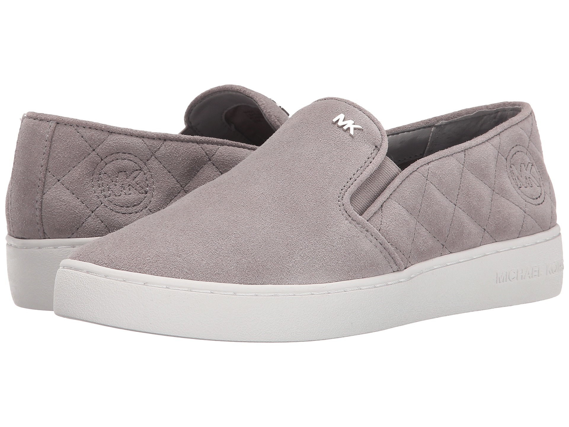 776eeed7941c Lyst - MICHAEL Michael Kors Keaton Quilted Slip-on in Gray