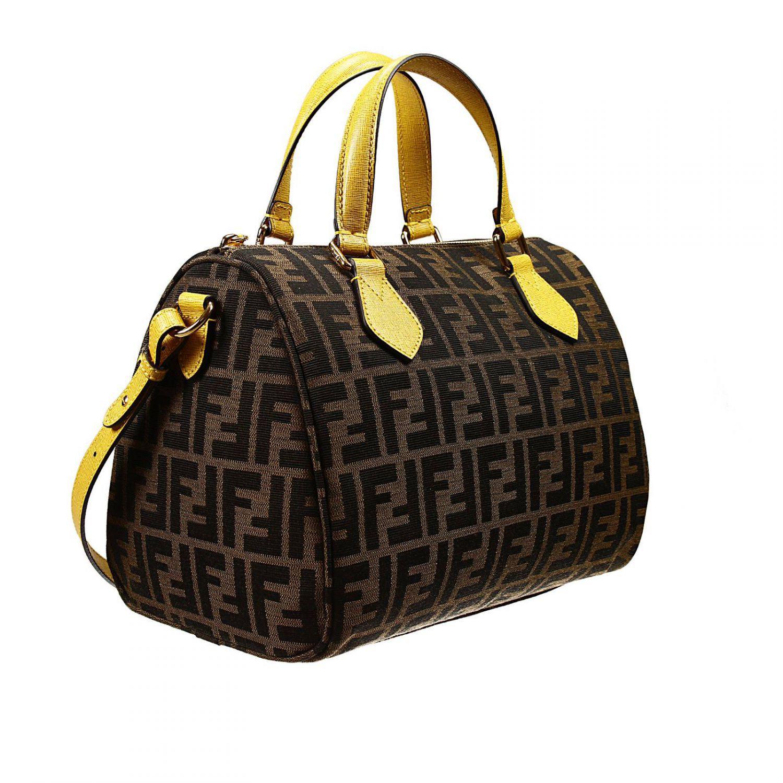 Fendi Handbag Bag Zucca Duffle Contrast In Yellow Lyst