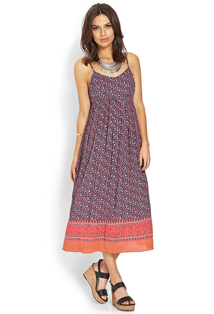 Forever 21 Contemporary Everyday Ethereal Dress In Navy