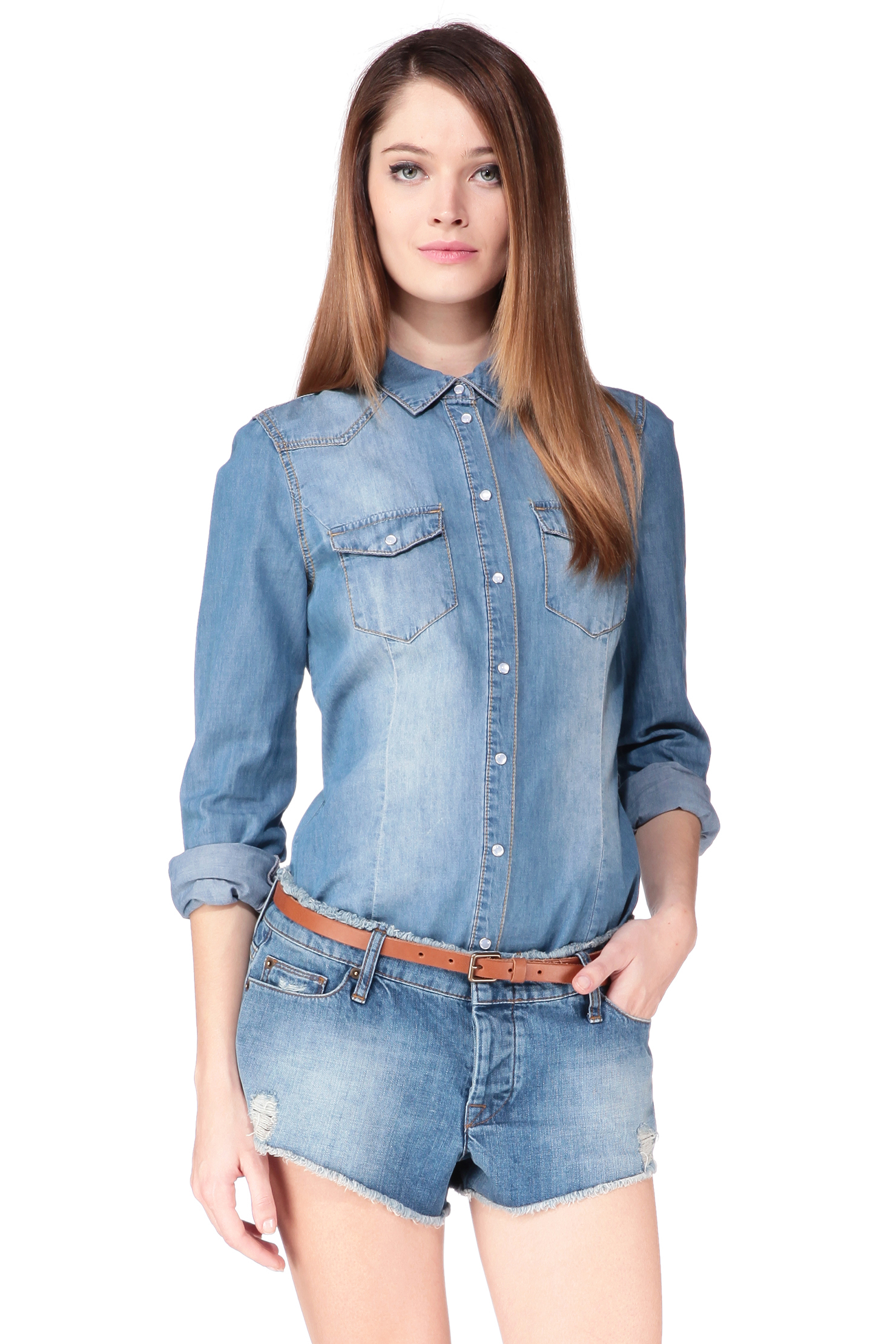 vero moda shirt blouse in blue lyst. Black Bedroom Furniture Sets. Home Design Ideas