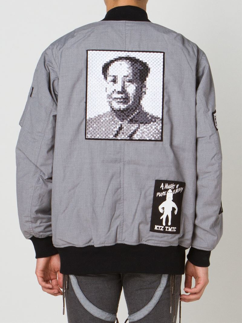 KTZ Patch Bomber Jacket in Grey (Grey) for Men