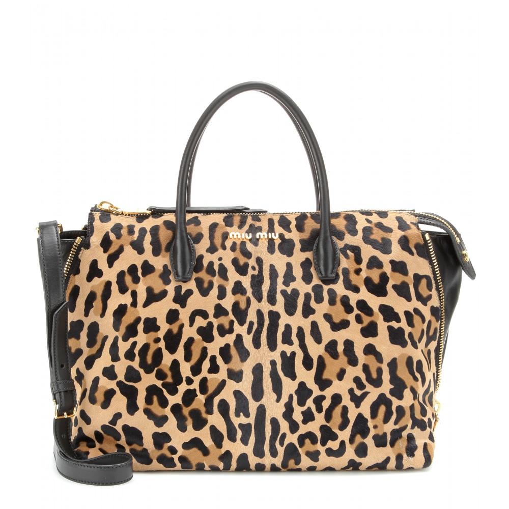 Miu Miu Leopard Handbag